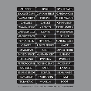 51-x-Spice-Herb-Storage-Jar-Labels-Stickers-Decals-10mm-x-48mm