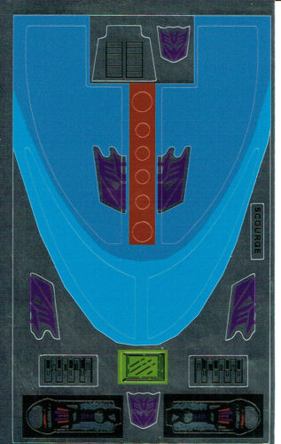 Transformers GENERATION 1 G1 Decepticon Flagello REPRO Etichette//Adesivi