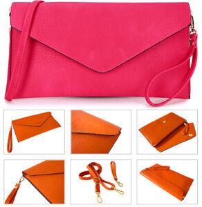 Details about Fuschia Pink Womens Oversize Clutch Bag Ladies Large Envelope Purse Evening Bag