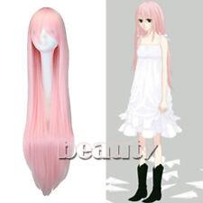 100cm Anime Long Vocaloid Luka Ruka Cosplay smoke Pink Wig  Cosplay Party Wig