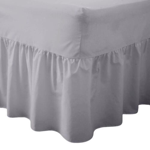 Comfy Nights Plain Dyed Polycotton Easy Care Valance Fitted Sheet In All Sizes