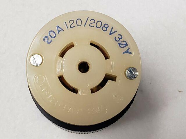 HUBBELL TWIST LOCK PLUG CONNECTOR 30A 120//208 30Y 4P