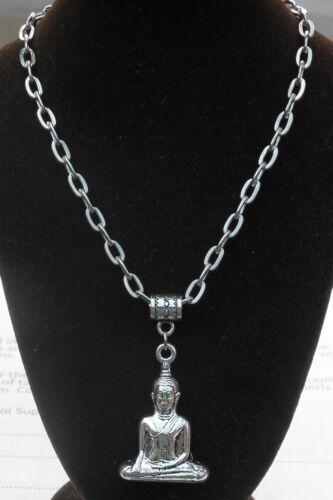 "20/"" or 24 Inch Chain Necklace 3D Sitting Buddha Charm Pendant Buddhism Buddhist"