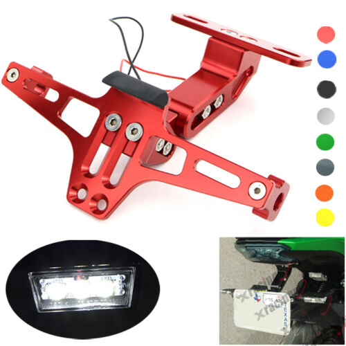 CNC License Plate Bracket LED Rear Light For YAMAHA YZF R6 2003 2004 2005 Red