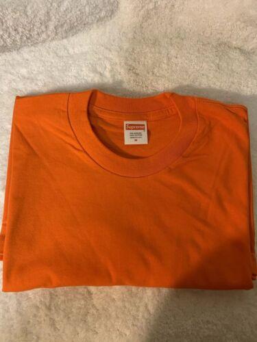 Supreme Blank Tee Orange Size Medium Short Sleeve