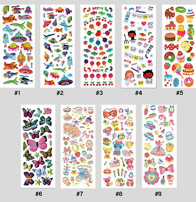 #008S 3D Puffy Kids Children Stickers Party Gift Craft Card Making Scrapbooking