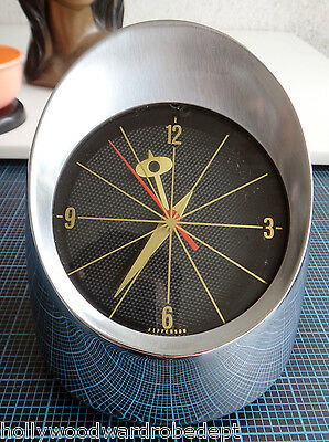 50s Taillight Headlight Desk Clock Jefferson 500 Atomic