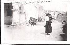 VINTAGE 1920 MISSION SAN JUAN CAPISTRANO CALIFORNIA LADY FASHION OF ERA PHOTO