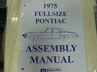 1975 Pontiac Fullsize Bonneville, Catalina (all Models) Assembly Manual