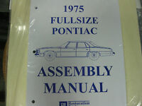 1975 Pontiac Fullsize Bonneville, Catalina (all Models) Assembly Manual