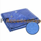 All Weather Light Duty Water Resistant Reinforced Cover Blue Tarp w/ Grommets