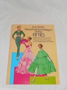 COLLECTIBLE VINTAGE BOOK PAPER DOLLS 1985 TOM TIERNEY FASHION DESIGNS of FIFTIES