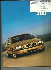 VOLVO S60 SALES BROCHURE  AUGUST 2000 FOR 2001 MODEL YEAR