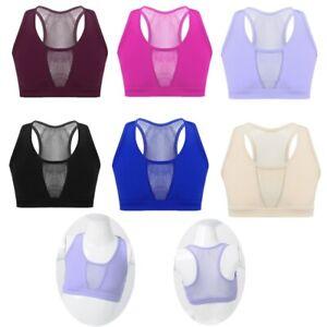Kid-Dance-Crop-Top-Girls-Racer-Back-Vest-Stretchy-Mesh-Gym-Sport-Yoga-Tanks-Tops