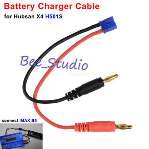 Toys & Hobbies 16awg B6 Imax Battery Charging Cable Ec2 Male To Banana Plug For Hubsan H501s Rc Drone Quadcopter Parts