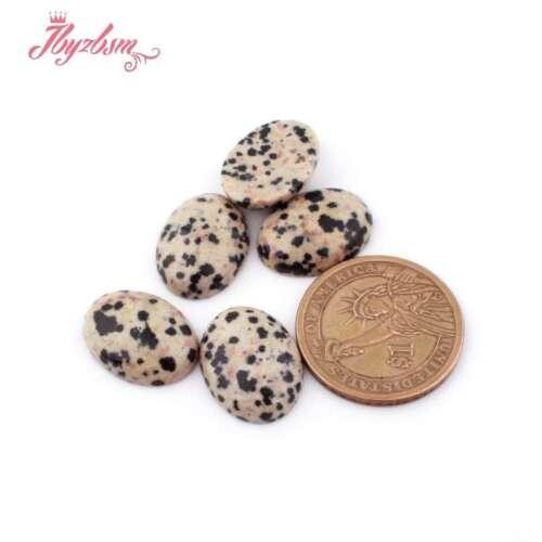 Oval Dalmatian CAB Cabochon Flatback Dome Undrilled Stone Jewelry Making 5 Pcs