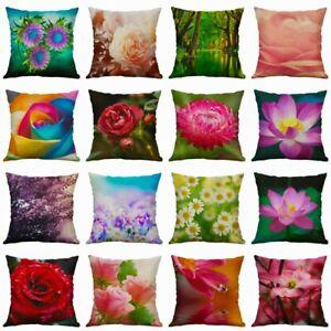 Cotton-Linen-Throw-Plant-Flower-18-039-039-Home-Sofa-Cushion-Cover-Pillow-Case-Decor