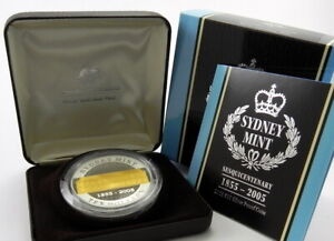 2005-10-SYDNEY-MINT-SESQUICENTENARY-1-95oz-Gold-Plated-Silver-Proof-Coin