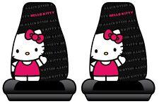 Hello Kitty Sanrio Waving Car Truck SUV Bucket Seat Covers - Pair NEW