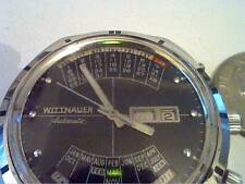VINTAGE 1970'S WITTNAUER 2000 QUAD CALENDAR YEAR MONTH DAY DATE AUTO WATCH RUNS