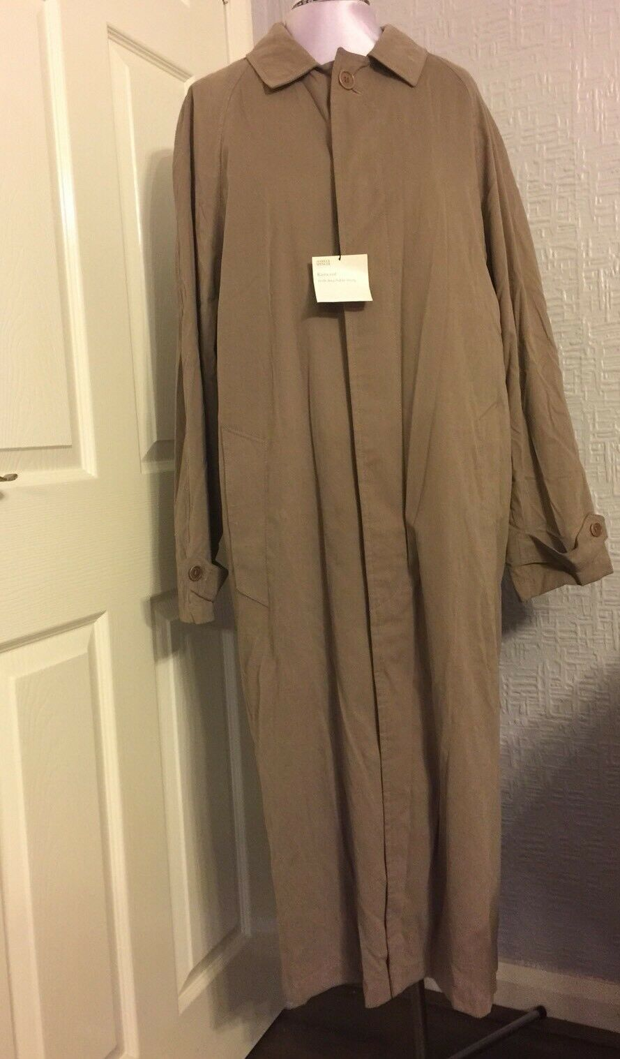 "BNWT M&S Italian Fabric Raincoat Size Medium Chest 97-102 Cm  38""-40"" In Beige(m"