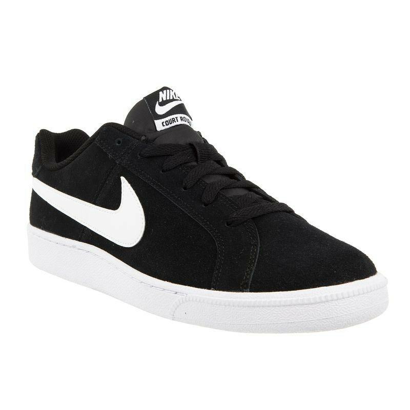 New shoes for men and women, limited time discount Nike Court Royale Suede Trainers Black/White Comfortable