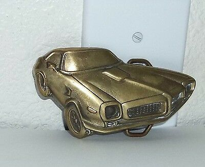 Vintage Solid Brass 1978 Trans Am Car Belt Buckle by Baron