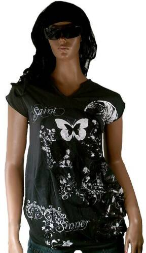 Star Skull Rock amp;sinners G Amplified Kleid l Saint Tunik Shirt Butterfly Enternal wYxIZ1