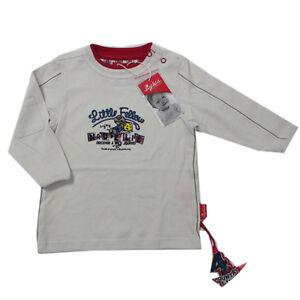 Sigikid-T-Shirt-Shirt-langarm-Baumwolle-Beige-Rundhals-Jungen-Gr-62-80-86