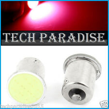 1x Ampoule LED COB 12 Chips Rouge Red feux stop P21W / BA15S / 1156 / R5W 12V