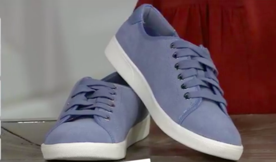 NEW Vionic Water Water Water Resistant Suede Lace-up Sneakers - BRINLEY 8.5 LIGHT blueE 56c25b