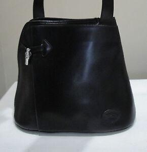 Cuir Sac En Roseau À Modèle Noir Main Comme Neuf Longchamp axZq7wx