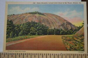 C-1940-Stone-Mountain-Largest-Solid-Stone-In-the-World-Atlanta-Georgia-Postcard