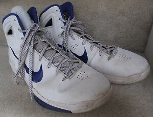 5de9dc32d Image is loading Nike-Zoom-Hyperdunk-Flywire-2010-Basketball-Shoes-White-