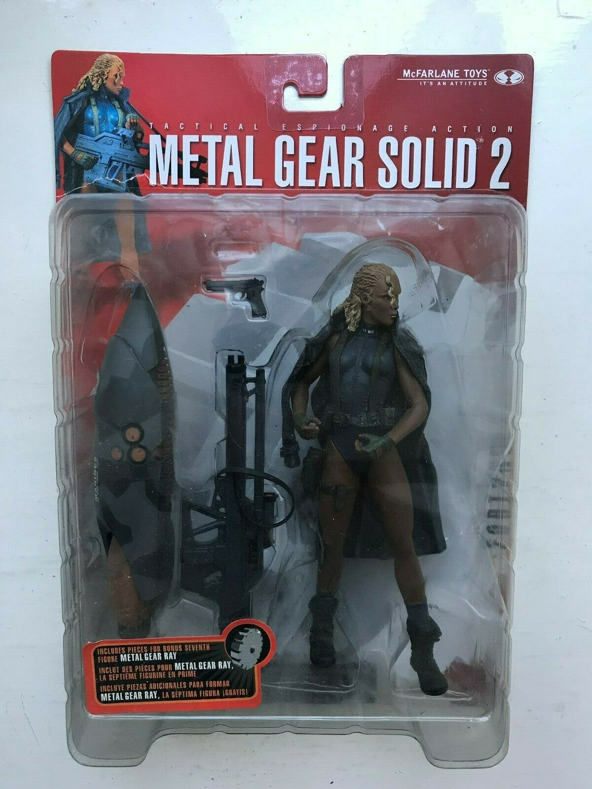 BOXED MCFARLANE METAL GEAR SOLID 2 SONS OF LIBERTY FORTUNE ACTION FIGURE