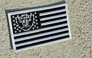 raiders patches.. RNFL.. raider nation American flag. Oakland raiders ...