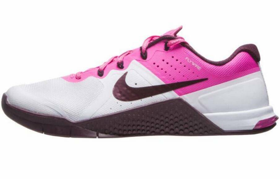 NIKE Metcon 2 Women's Training Shoes sz 11.5 12 MSRP$130 White/Maroon/Pink/Black