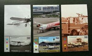 SJ-100-Years-Of-Aviation-Malaysia-2011-Airplane-Transport-stamp-color-MNH