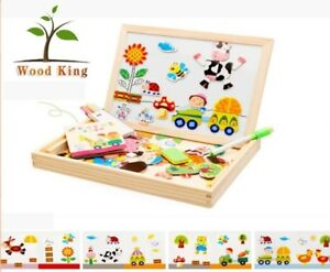 Educational Wooden Black & White board Game Learning Creative Kids Activity Toy