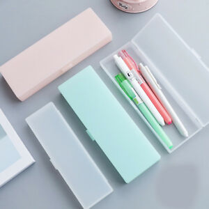 Clear-Plastic-Pencil-Case-Pen-Box-Kids-Stationery-Office-School-Supplies-Boxes