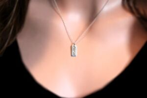 Sterling-Silver-Minimalist-Fearless-Saying-Word-Charm-Pendant-Necklace-16-034-18-034