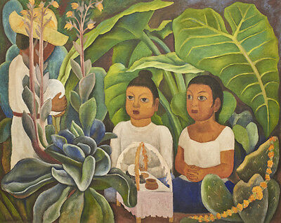 Diego Rivera Cabbage Seller Giclee Art Paper Print Poster Reproduction