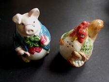 CHICKEN AND PIG NOVELTY SALT AND PEPPER POTS ( FF1987) (ref60)