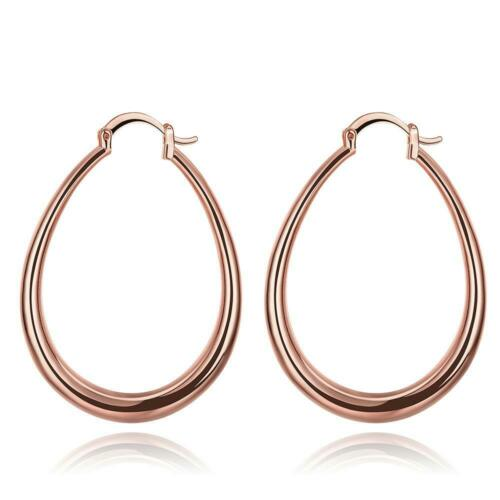 Oval Kreis Band Ohrringe Ohr Mode Erkl?rung Jewelry Rose Gold Farbe Gro GE