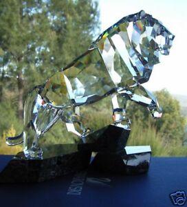 SWAROVSKI-SILVER-CRYSTAL-SOULMATES-034-THE-LION-034-1001111-MINT-IN-BOX-2009-2011