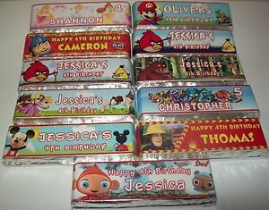 image is loading x6 personalised chocolate bar wrapper x6 individual names
