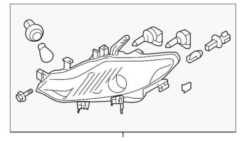 26060-1AA0D Nissan Headlamp assy-lh 260601AA0D New Genuine OEM Part