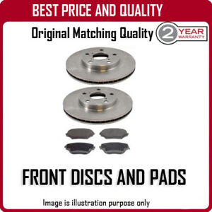 FRONT-BRAKE-DISCS-AND-PADS-FOR-OPEL-VECTRA-1-7-TD-10-1991-11-1995