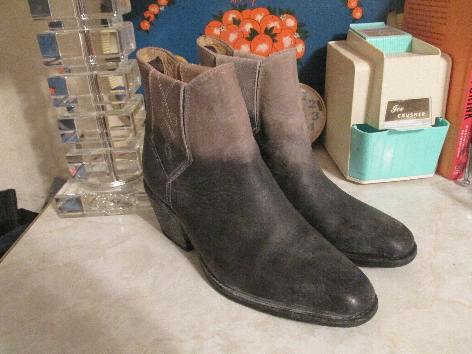 Faryl Robin + FREE PEOPLE Negro Williams Williams Williams (Dover) Tobillo botas Talla 10 3e751f