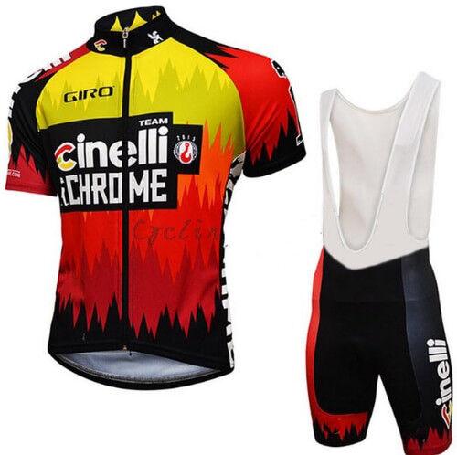 CINELLI CHROME 2016 Cycling Jersey Set Pants Shorts Bike Ropa Ciclismo MTB Maill